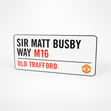 Sir Matt Busby Way Skylt
