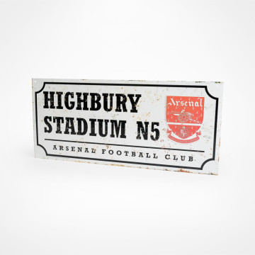 Highbury Stadium Retro Street Sign