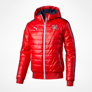 Padded Jacket -Red/Navy