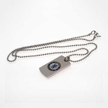 Colour Crest Dog Tag & Chain