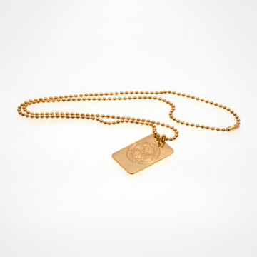 Gold Plated Dog Tag & Chain