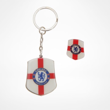 Keyring & Pin Badge St George