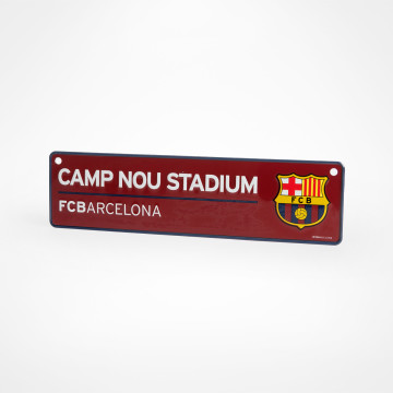 Camp Nou fönsterskylt