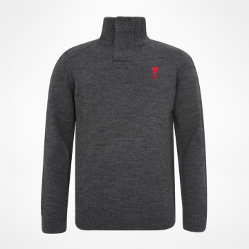 Funnel Neck Knit - Charcoal