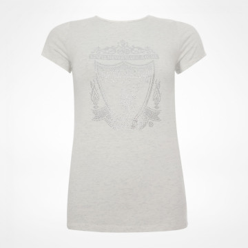 Ladies  Crest Tee - White