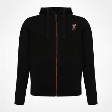 Ladies Zip Thru Hood - Black