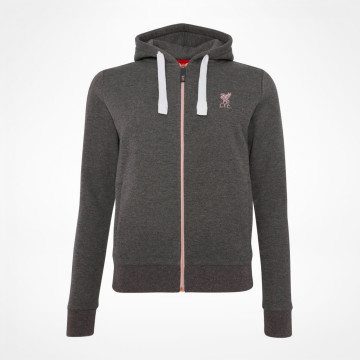 Ladies Zip Thru Hood - Grey