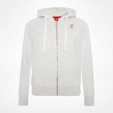 Ladies Zip Thru Hoody - Grey