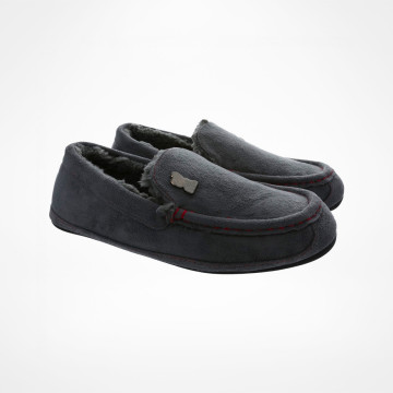Moccasin Slippers - Grey