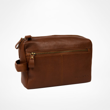 Signature Wash Bag - Brown