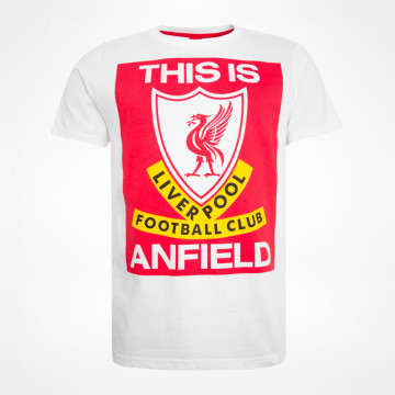 T-shirt This Is Anfield - Vit