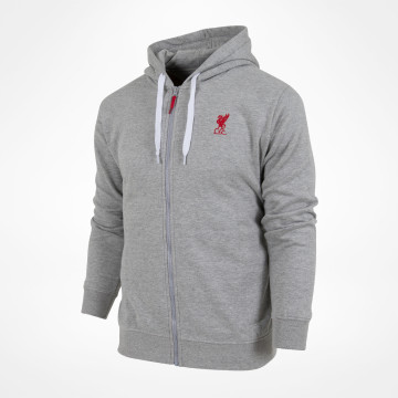 Basic Zip Thru - Grey