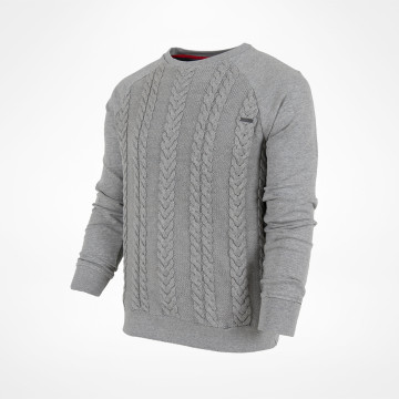 Knit Panel Jumper Grey