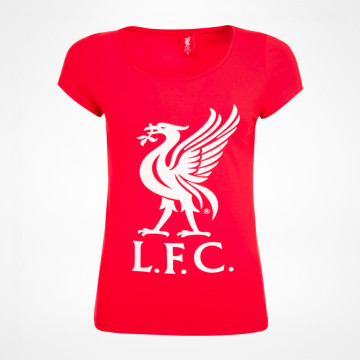 Ladies Liverbird Tee - Red