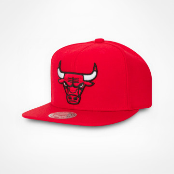 Keps Red Wool Solid Snapback