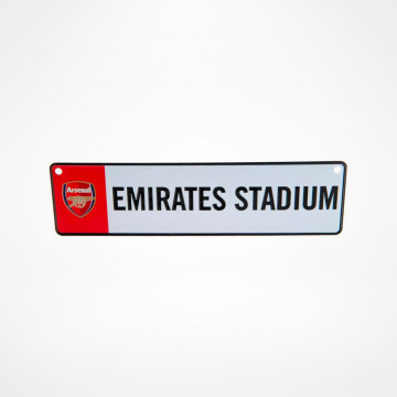 Fönsterskylt Emirates Stadium