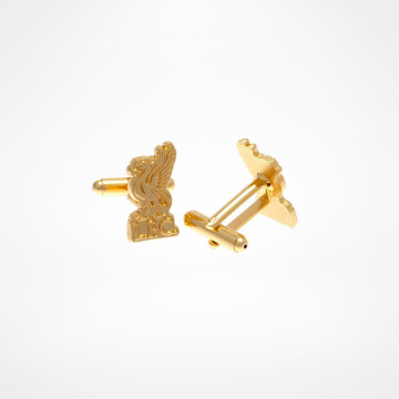 Gold Plated Liverbird Cufflinks
