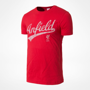 Anfield Script Tee - Red