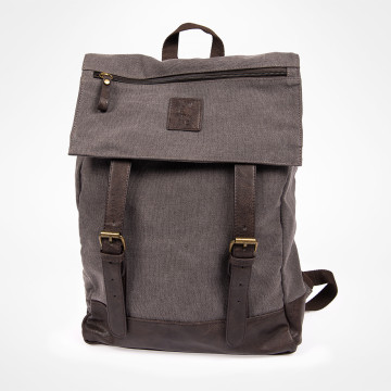 Backpack Grey Canvas
