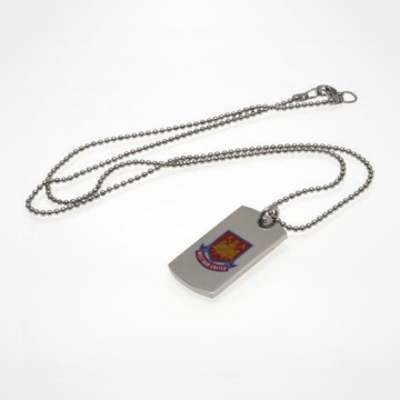 Colour Crest Dog Tag & Chain CT