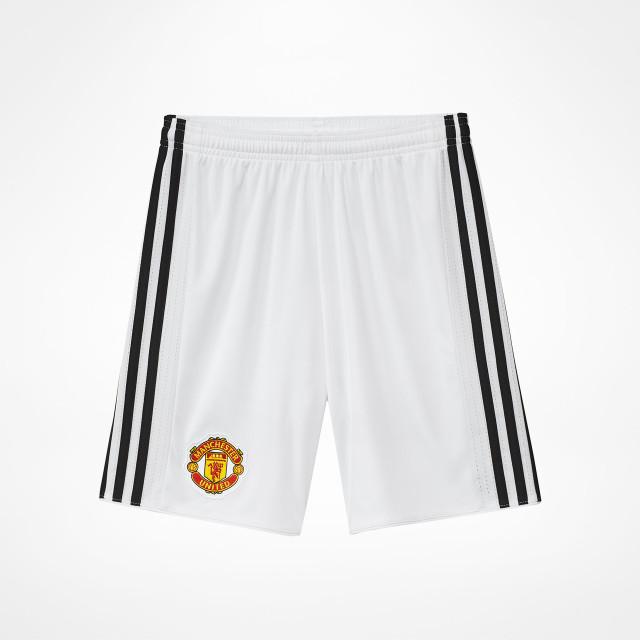 1f6ca58b02b Manchester United Home Shorts Junior White 2017 18 ...