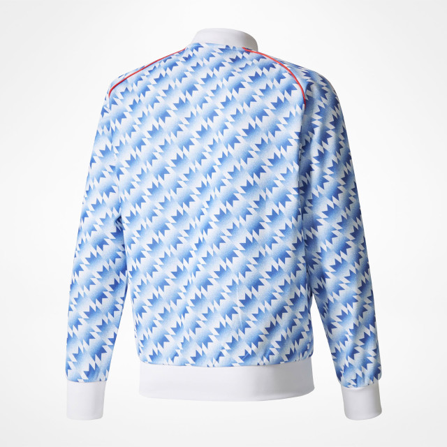 the latest 83c8d 9991f Manchester United Retro Track Top - SupportersPlace