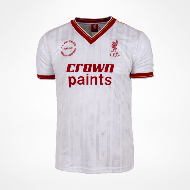 new arrivals 51388 021e1 Liverpool 85-86 Double Victory Away Shirt - SupportersPlace