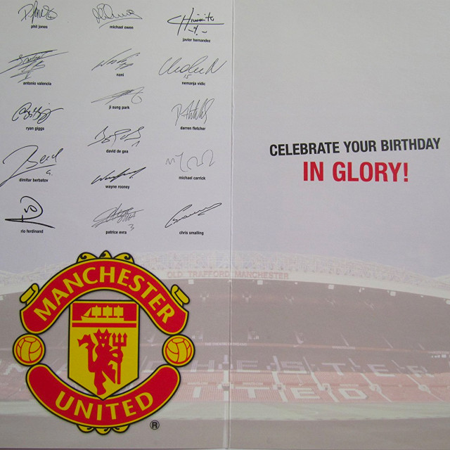 Manchester United Birthday Card No 1 Fan Supportersplace