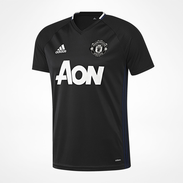 the latest 9f6b8 1289f Manchester United Training Jersey Black 2016/17 ...