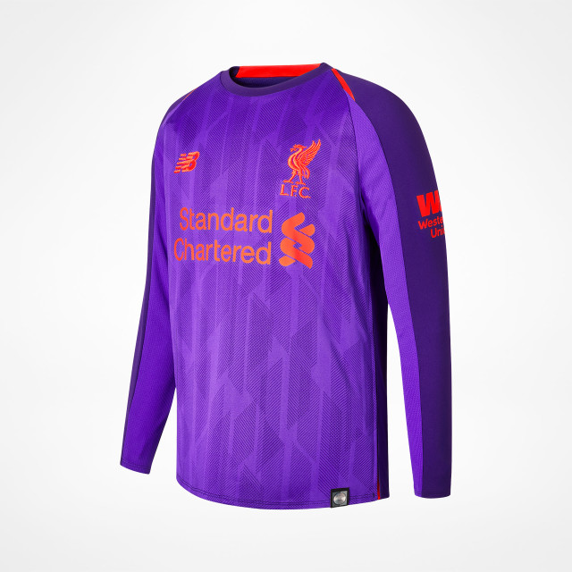 sports shoes a6a72 89d65 Liverpool Away Jersey Junior LS 2018/19 - SupportersPlace