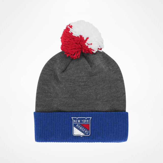 7214510077c New York Rangers Basic Cuffed Pom Knit - SupportersPlace