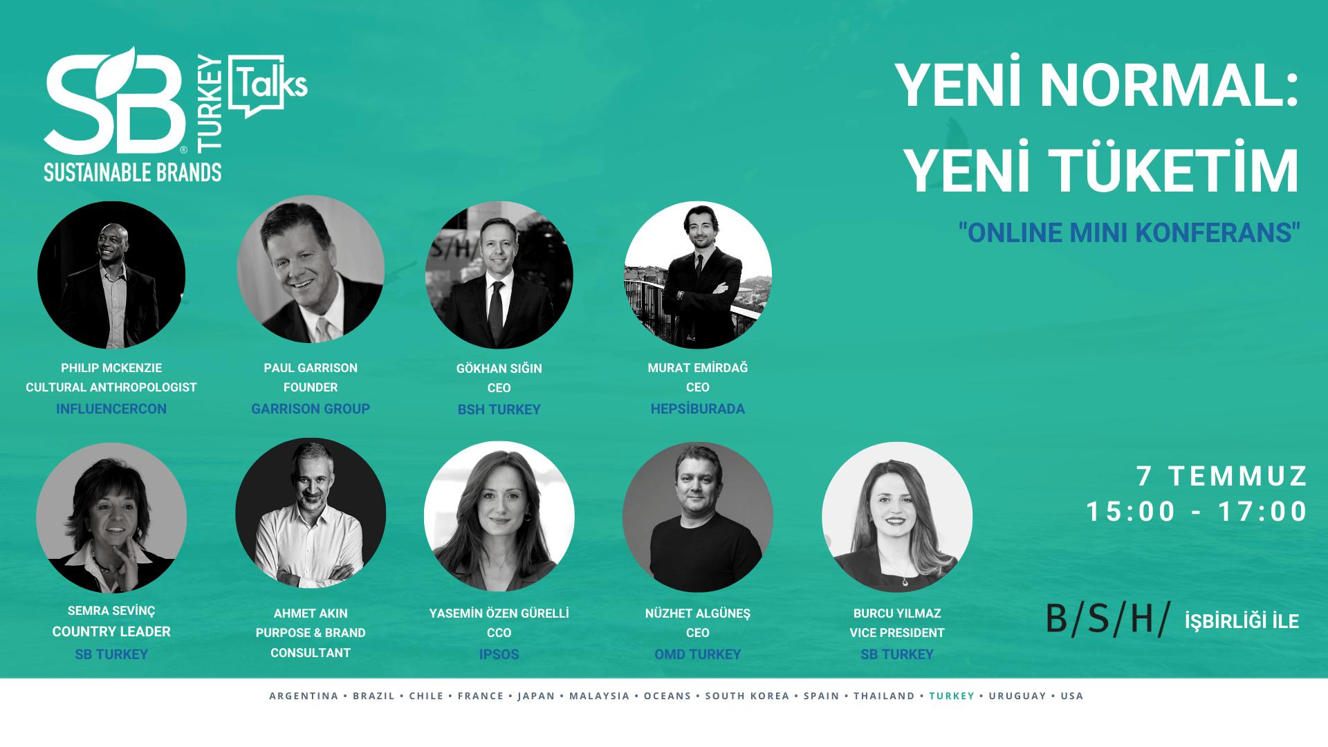 Sustainable Brands Turkey Talks: Yeni Normal: Yeni Tüketim