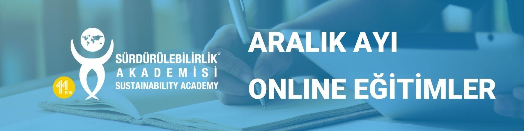 Sürdürülebilirlik Akademisi Aralık 2020 Online Eğitimler
