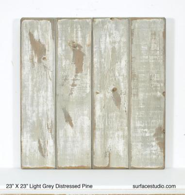 "Light Grey Distressed Pine (5 ¾"" Planks)"