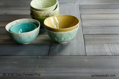 Grey Paneled  Pine