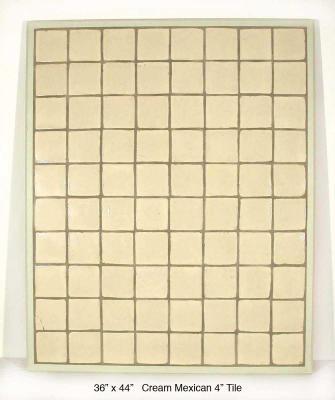 """Cream Mexican 4"""" Tile (55 lbs)"""