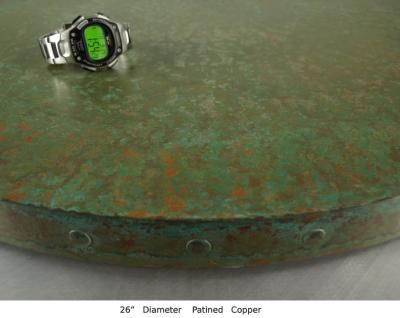 Patined Copper Round