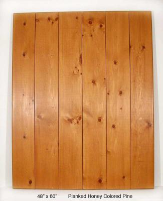 """Planked Honey Colored Pine (8"""" Planks)"""