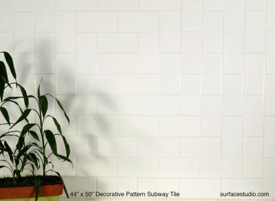 Decorative Pattern Subway Tile (70 lbs)