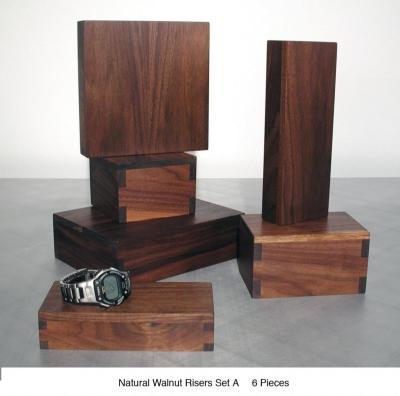 Natural Walnut Risers Set A (6) $40 - $50