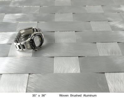 Woven Brushed Aluminum