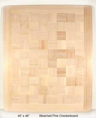 Bleached Pine Checkerboard
