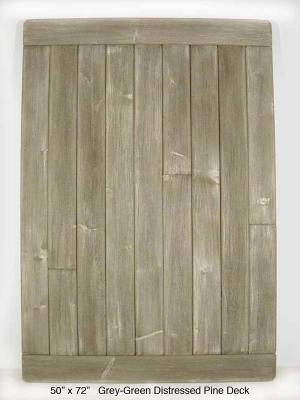 "Grey-Green Distressed Pine Deck (5 ½"" Planks)"