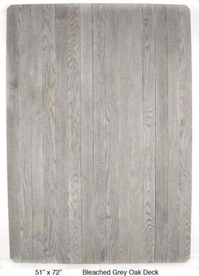 "Bleached Grey Oak Deck (3 ½"" Planks)"