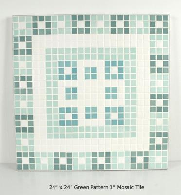"Green Pattern 1"" Mosaic Tile (20 lbs)"