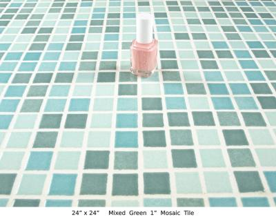 "Mixed Green 1"" Mosaic Tile (20 lbs)"