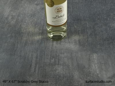 "Scratchy Grey Stucco 1.5"" Lip"