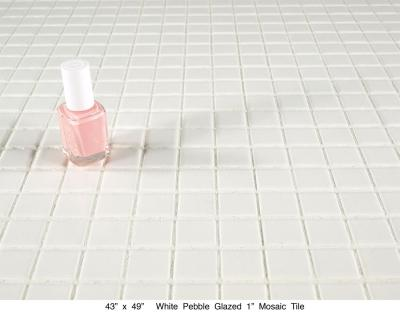 "White Pebbled Glazed  1"" Tile (75 lbs)"