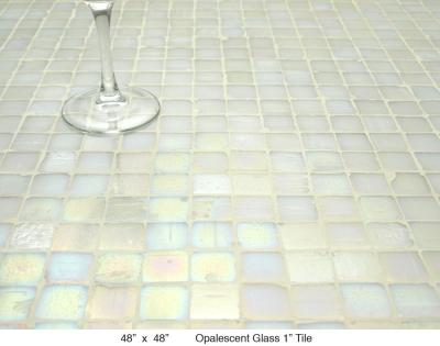 "Opalescent Glass 1"" Tile (80 lbs)"