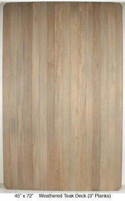 """Weathered Teak Deck (3"""" Planks)"""